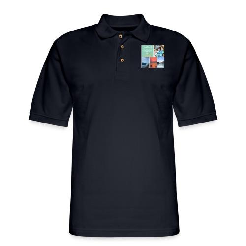 Positivons la vie - Men's Pique Polo Shirt