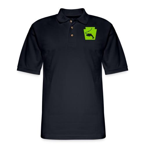 Pennsylvania Fishing Keystone PA - Men's Pique Polo Shirt
