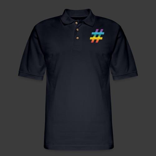 Rainbow Include Hash - Men's Pique Polo Shirt
