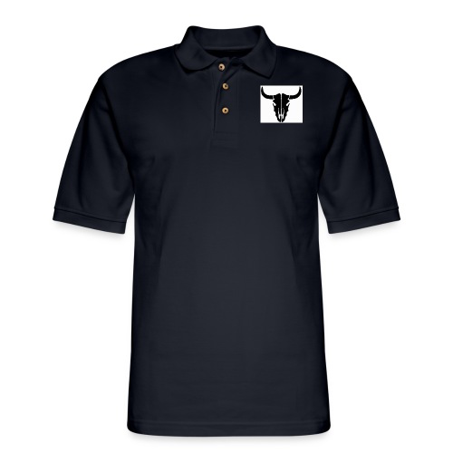 Longhorn skull - Men's Pique Polo Shirt