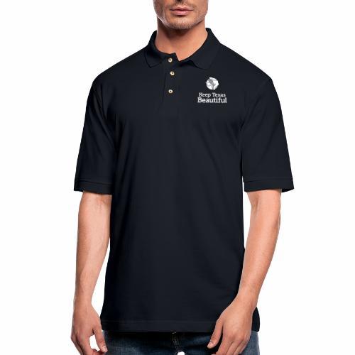 Keep Texas Beautiful Logo - White - Men's Pique Polo Shirt