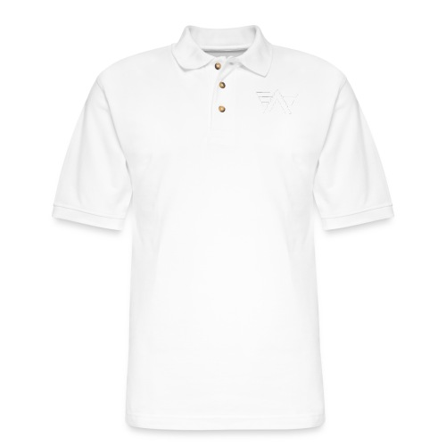 Bordeaux Sweater White AeRo Logo - Men's Pique Polo Shirt