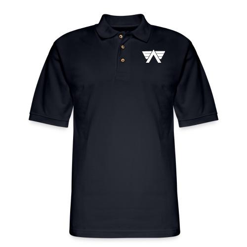 Bordeaux Sweater White AeRo Logo - Men's Pique Polo Shirt