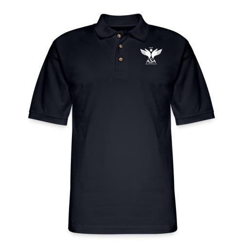 3459 Angelman Logo AUSTRALIA FA WHITE LR - Men's Pique Polo Shirt