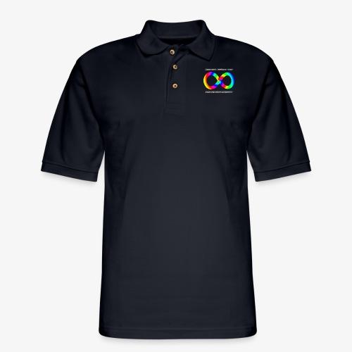 Embrace Neurodiversity with Swirl Rainbow - Men's Pique Polo Shirt