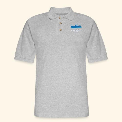 Eisenhower Lock Blue - Men's Pique Polo Shirt