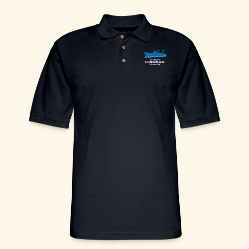 Eisenhower Lock Blue - Men's Pique Polo Shirt