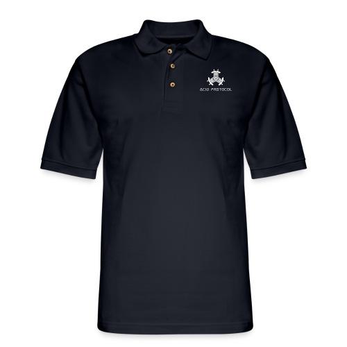 Acid Protocol Hat Design - Men's Pique Polo Shirt