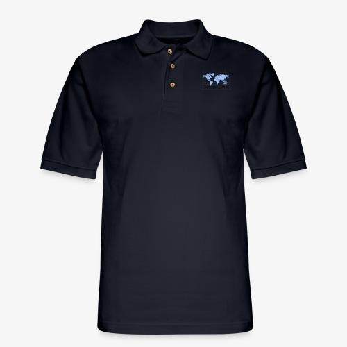 Blue Earth Map - Men's Pique Polo Shirt