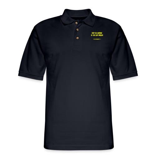 KORITFW yellow - Men's Pique Polo Shirt