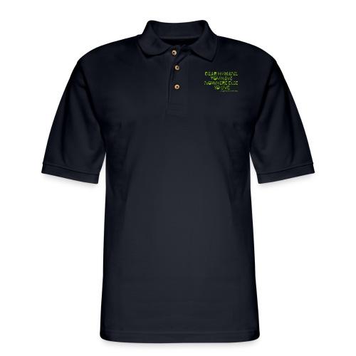 Concerned Earthling - Men's Pique Polo Shirt