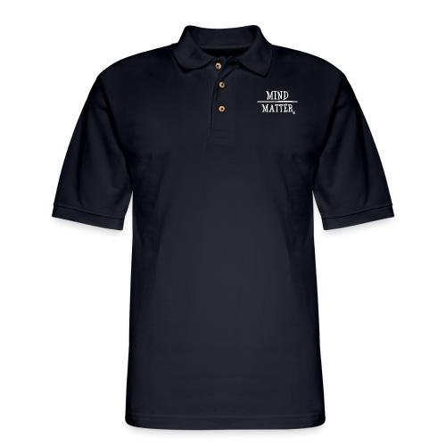 Mind over Matter white - Men's Pique Polo Shirt