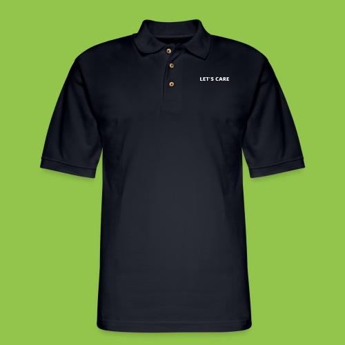Let's Care shirt - Men's Pique Polo Shirt