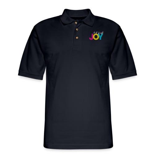 But First, Joy Merch - Men's Pique Polo Shirt