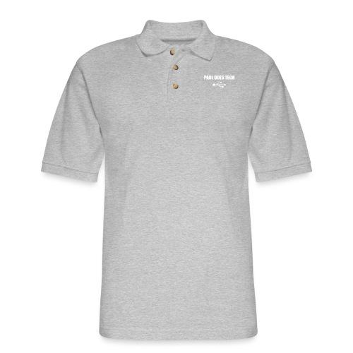 Paul Does Tech White Logo With USB - Men's Pique Polo Shirt