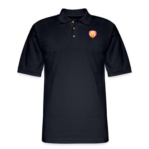 Vibrant Color Dog - Men's Pique Polo Shirt