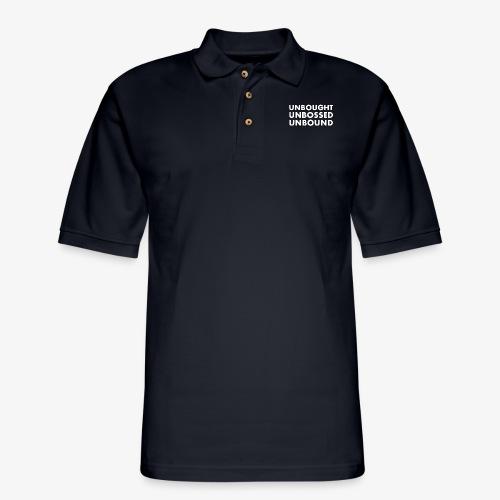 Unbought Unbought Unbound - Men's Pique Polo Shirt
