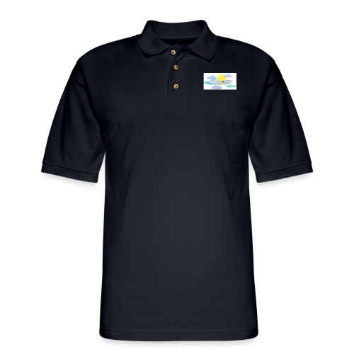 Sea of Clouds - Men's Pique Polo Shirt