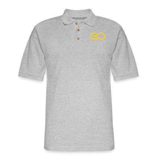 GO logo big - Men's Pique Polo Shirt