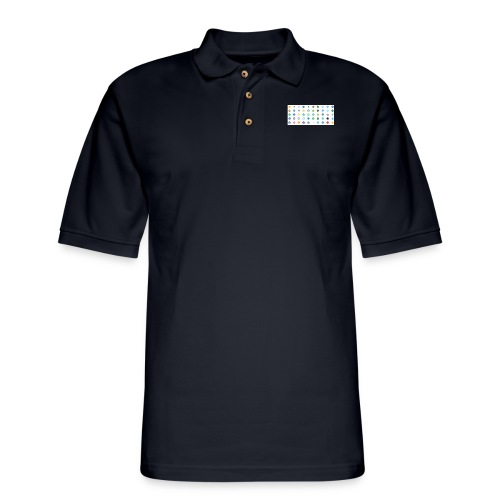 1 Crypto icons - Men's Pique Polo Shirt