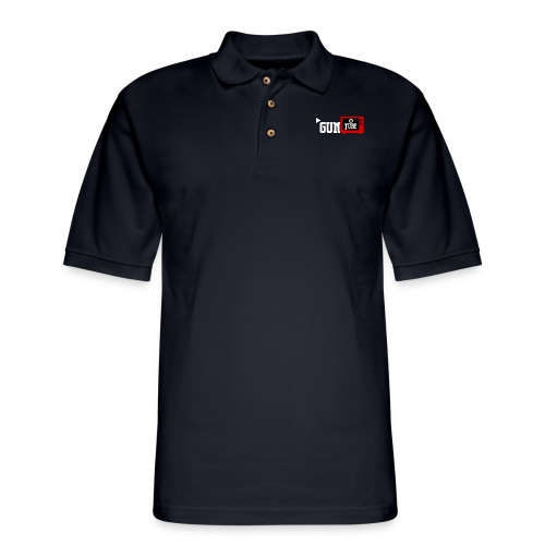 GunTube White - Men's Pique Polo Shirt