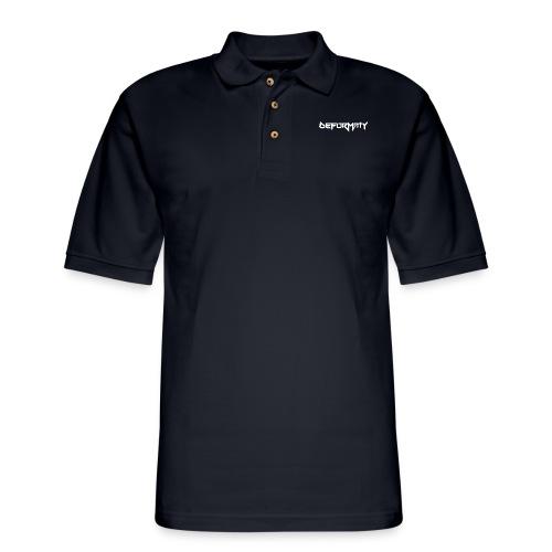 Deformaty logo hat - Men's Pique Polo Shirt
