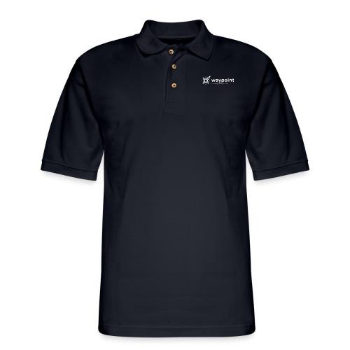 Waypoint Logo (Light Version) - Men's Pique Polo Shirt
