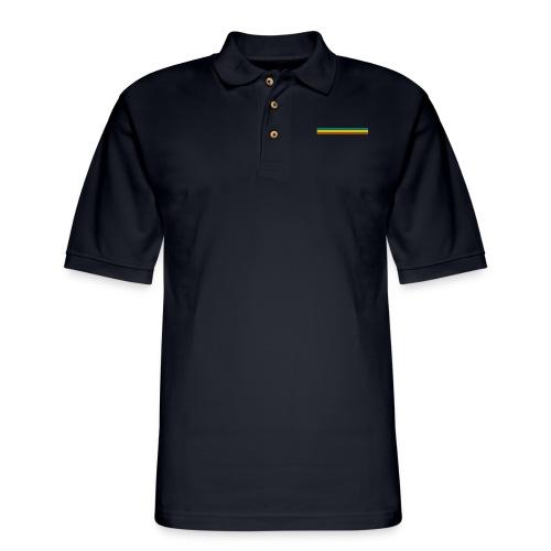 striped mug black logo png - Men's Pique Polo Shirt