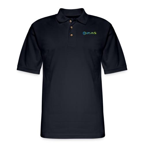 Melbshuffle Gradient Logo - Men's Pique Polo Shirt