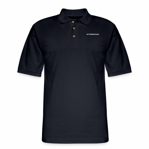 cryptomedium logo light - Men's Pique Polo Shirt