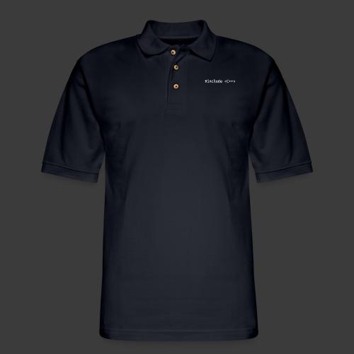 White Include Logo - Men's Pique Polo Shirt
