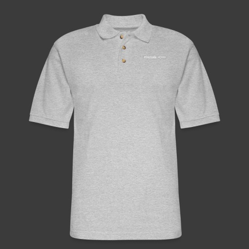 White Include Logo - Men's Pique Polo Shirt