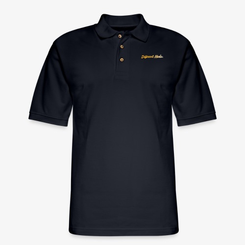 different media gold png - Men's Pique Polo Shirt