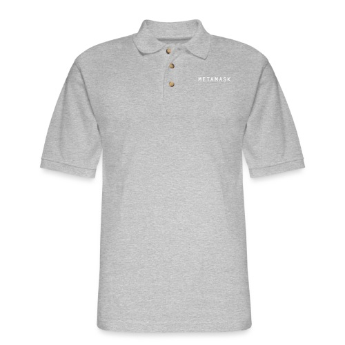 MetaMask Wordmark White - Men's Pique Polo Shirt