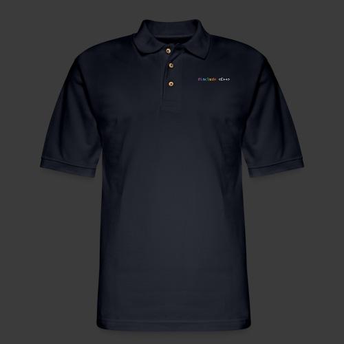 Rainbow Include C++ - Men's Pique Polo Shirt