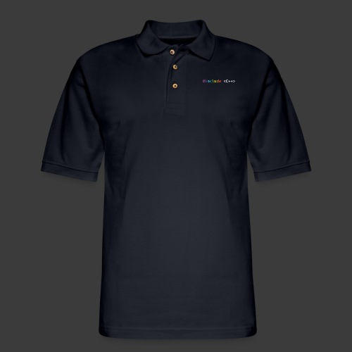 Rainbow Include C++ - Men's Pique Polo Shirt