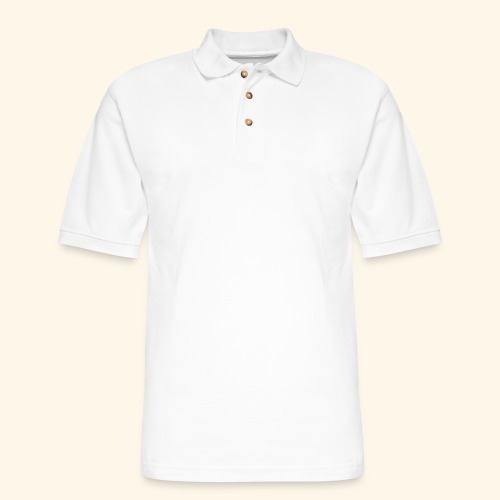 The Blonde Nomads logo WHITE - Men's Pique Polo Shirt