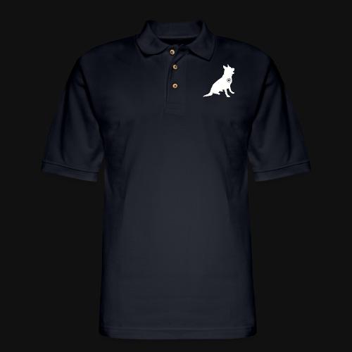 German Shepherd love - Men's Pique Polo Shirt