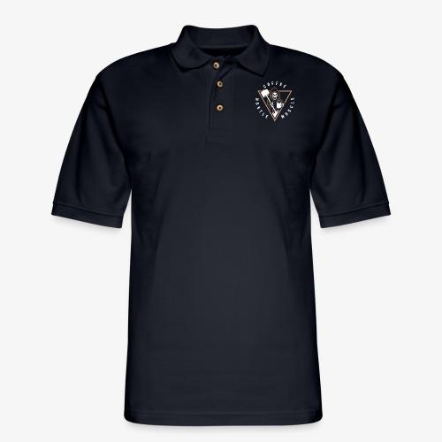 Coffee Hustle Muscle Grim Reaper - Men's Pique Polo Shirt
