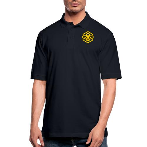 bee symbol orange - Men's Pique Polo Shirt