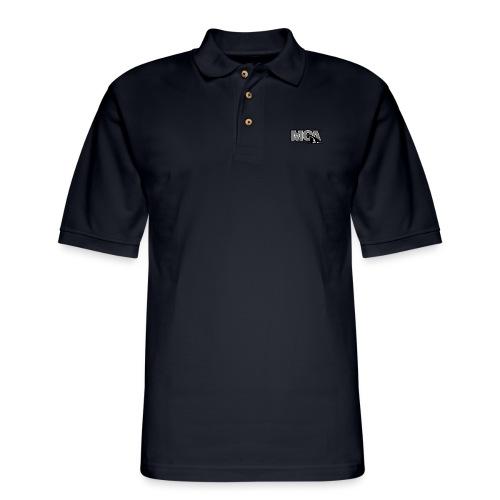 MCA Logo WBG Transparent BLACK WHITE TITLEfw fw pn - Men's Pique Polo Shirt