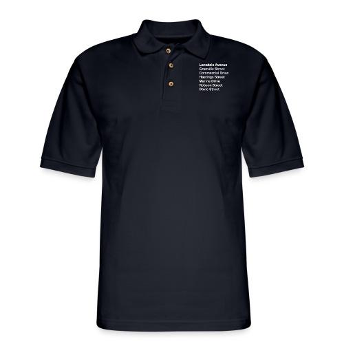 Street Names White Text - Men's Pique Polo Shirt