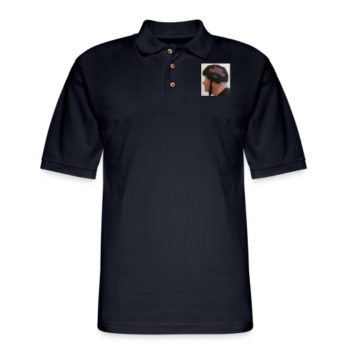Sleep Exersizer Helmet Model - Men's Pique Polo Shirt