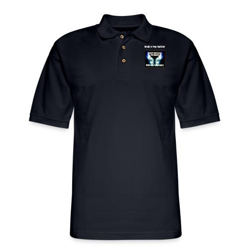 MightyWarrior PrayAnytime White - Men's Pique Polo Shirt