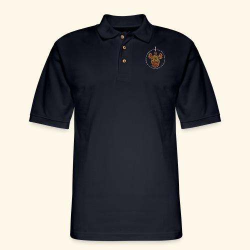 Dust Rhinos Orange Knotwork - Men's Pique Polo Shirt