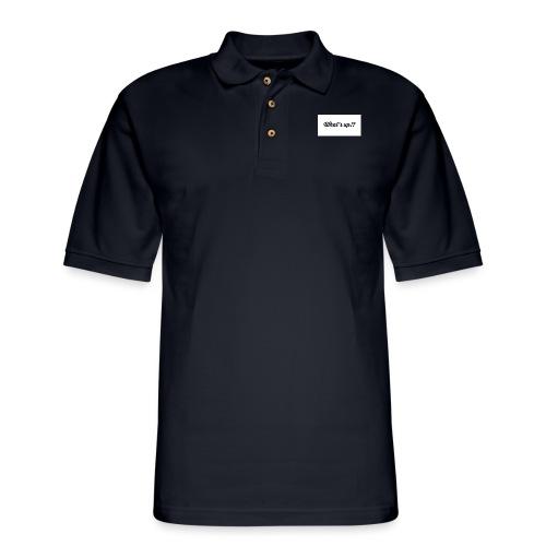 whats up - Men's Pique Polo Shirt