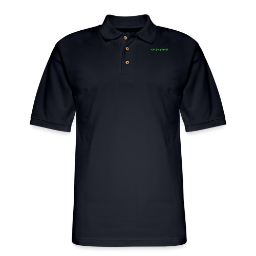 Go Skydive T-shirt/Book Skydive - Men's Pique Polo Shirt