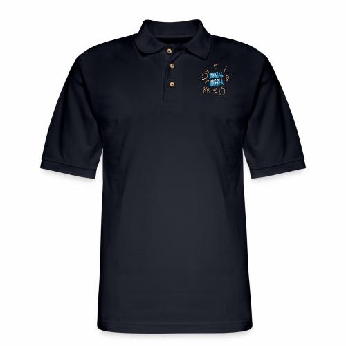 Internet Media/Social Media/Internet Network - Men's Pique Polo Shirt