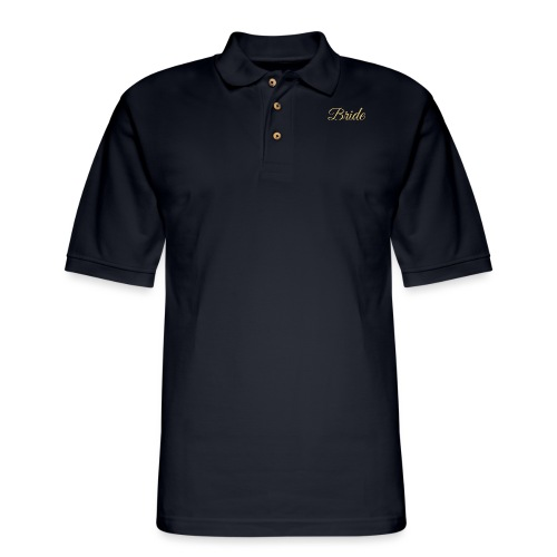 Bride Engagement Wedding - Men's Pique Polo Shirt