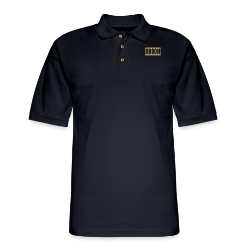 Groom Engagement Wedding - Men's Pique Polo Shirt